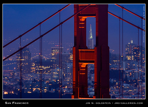 San Francisco cityscape photo by Jim M. Goldstein