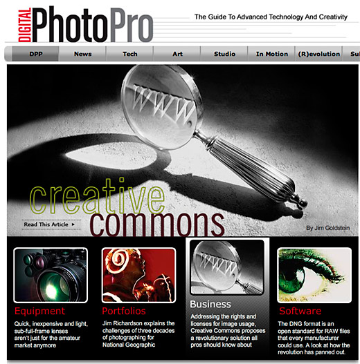 Creative Commons article on Digital Photo Pro by Jim M. Goldstein