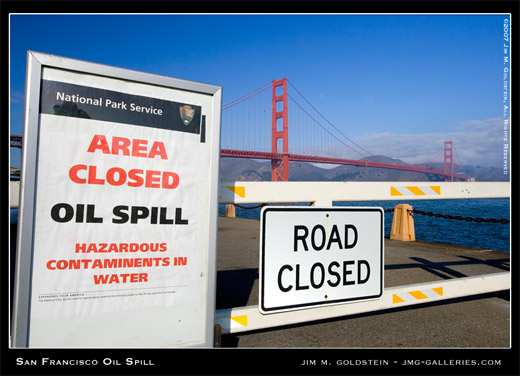 San Francisco Oil Spill photo by Jim M. Goldstein