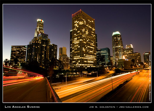 Los Angeles Sunrise cityscape photo by Jim M. Goldstein