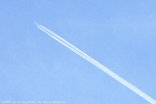 Contrail Example photo by Jim M. Goldstein