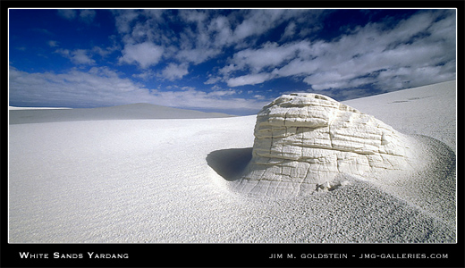 White Sands Yardang, landscape photograph by Jim M. Goldstein