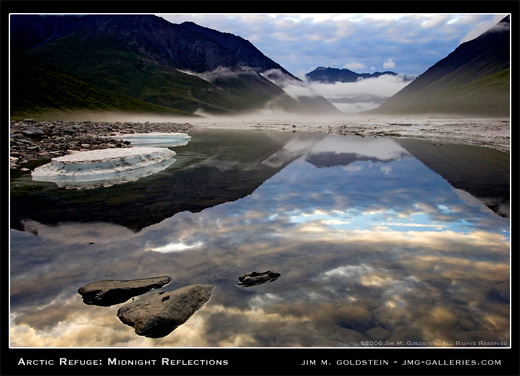 Arctic National Wildlife Refuge: Midnight Reflections