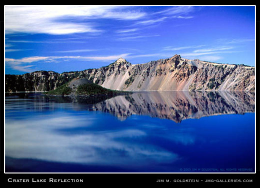 Crater Lake Reflection, landscape photo by Jim M. Goldstein